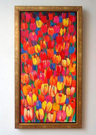 Beata Murawska : Expression of tulips : Oil on Canvas