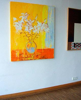 Jacek Łydżba : Flowers : Oil on Canvas