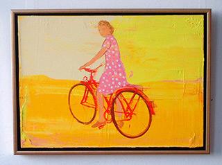 Jacek Łydżba : Lady and bicykle : Oil on Canvas