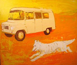 Jacek Łydżba : Nostalgic race : Oil on Canvas