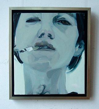 Katarzyna Swinarska : Girl smoking : Oil on Canvas