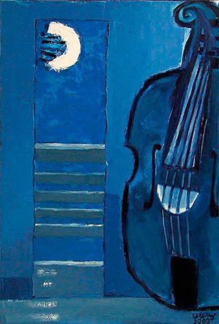 Krzysztof Kokoryn : Double bass : Oil on Canvas