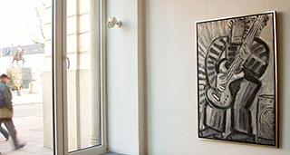 Krzysztof Kokoryn : Gray guitar player : Oil on Canvas
