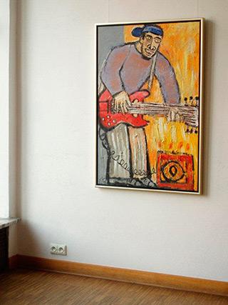 Krzysztof Kokoryn : Guitar player : Oil on Canvas