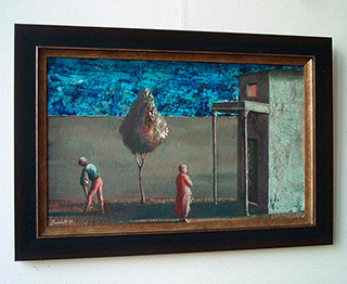 Łukasz Huculak : Go out for a walk : Tempera on Panel