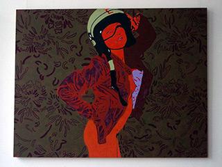 Agnieszka Sandomierz : Girl Dark : Tempera on Canvas