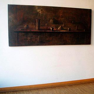 Łukasz Huculak : Long still life : Oil on Canvas