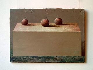 Łukasz Huculak : Three apples : Oil on Canvas