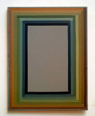 Łukasz Majcherowicz : From gray to green : Oil on Canvas