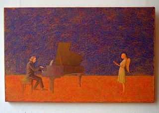 Mikołaj Kasprzyk : A Young Girl's Wish : Oil on Canvas