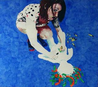 Agnieszka Sandomierz : Girl with a Puppet : Oil on Canvas