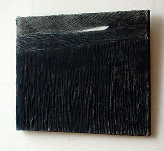 Radek Zielonka : Black landscape : Oil on Canvas