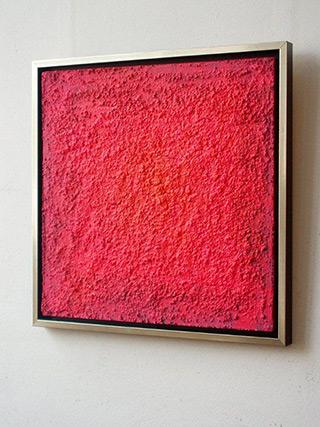 Radek Zielonka : Pink square : Oil on Canvas