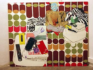 Agnieszka Sandomierz : Lady with Gadgets : Tempera on Canvas