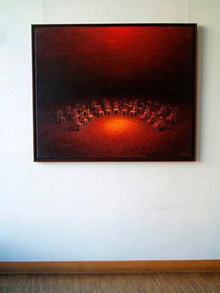 Adam Patrzyk : Awaiting : Oil on Canvas