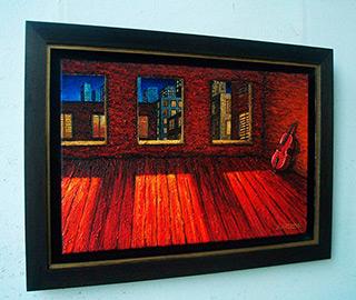 Adam Patrzyk : Cello : Oil on Canvas
