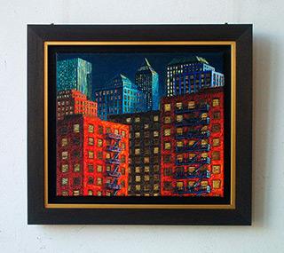 Adam Patrzyk : Fire escapes : Oil on Canvas