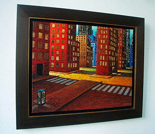 Adam Patrzyk : Pedestrian crossing : Oil on Canvas