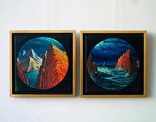 Adam Patrzyk : Romantic diptych : Oil on Canvas