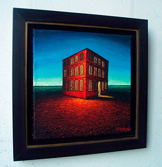 Adam Patrzyk : Lonely house : Oil on Canvas