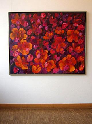Beata Murawska : Flowers Dark : Oil on Canvas