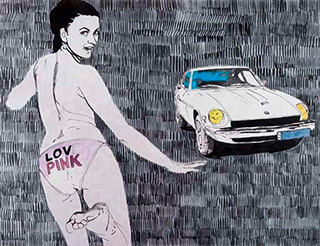 Agnieszka Sandomierz : Love pink : Tempera on canvas