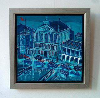 Edward Dwurnik : Warszawa blue : Oil on Canvas