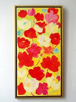 Beata Murawska : Flowers long : Oil on Canvas