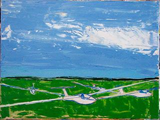 Jacek Łydżba : Gliders : Oil on Canvas