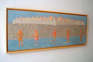 Mikołaj Kasprzyk : Skating : Oil on Canvas