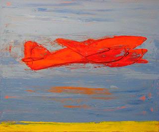 Jacek Łydżba : Red Plain : Oil on Canvas