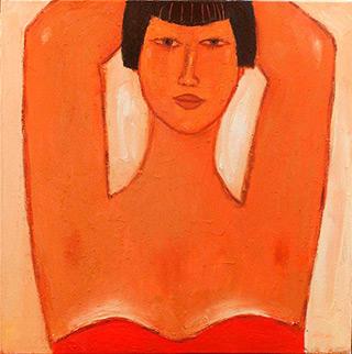 Krzysztof Kokoryn : Big lady : Oil on Canvas