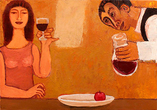 Krzysztof Kokoryn : Wine : Oil on Canvas