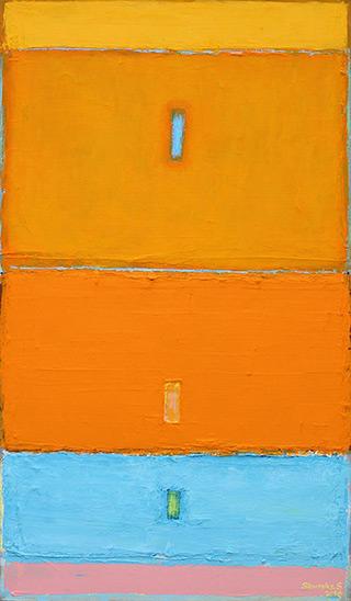 Sebastian Skoczylas : Towards geometry : Oil on Canvas