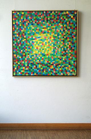 Zofia Matuszczyk-Cygańska : Green painting : Oil on Canvas