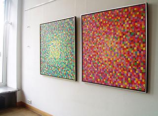 Zofia Matuszczyk-Cygańska : Red painting : Oil on Canvas