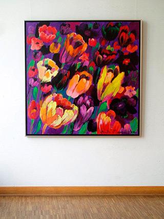 Beata Murawska : Flower dance : Oil on Canvas