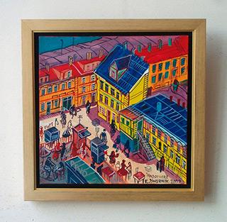 Edward Dwurnik : Sandomierz : Oil on Canvas