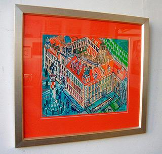 Edward Dwurnik : Royale castle in Warsaw : Tempera on paper