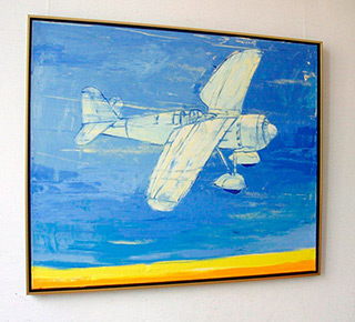 Jacek Łydżba : Old polish fighter : Oil on Canvas