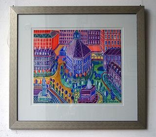 Edward Dwurnik : Milano : Watercolour on Paper
