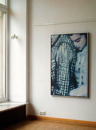 Katarzyna Swinarska : Checked jacked : Oil on Canvas