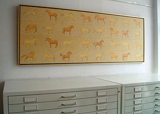 Mikołaj Kasprzyk : Horses : Oil on Canvas