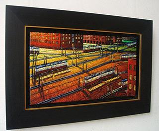 Adam Patrzyk : Parallel routes : Oil on Canvas