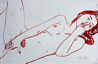 Agnieszka Sandomierz : Young woman : Tempera on Canvas