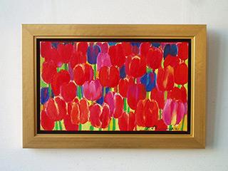 Beata Murawska : Red tulips : Oil on Canvas
