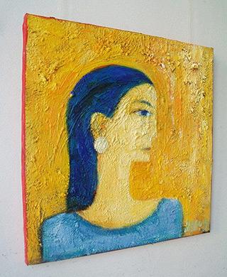 Darek Pala : Girl smiling : Oil on Canvas