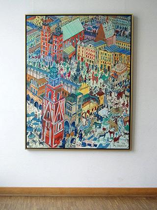 Edward Dwurnik : Cracow : Oil on Canvas