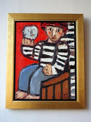 Krzysztof Kokoryn : Figure with the Mask : Oil on Canvas