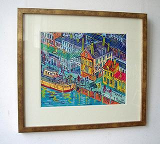 Edward Dwurnik : Harbour in Łeba : Tempera on Paper